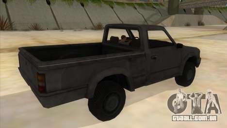 Toyota Hilux Militia para GTA San Andreas vista direita
