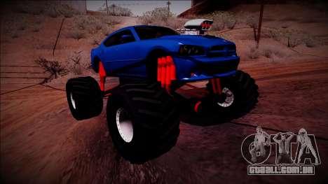 2006 Dodge Charger SRT8 Monster Truck para GTA San Andreas vista direita