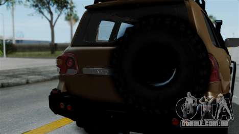 Toyota Land Cruiser 2013 Off-Road para GTA San Andreas vista traseira