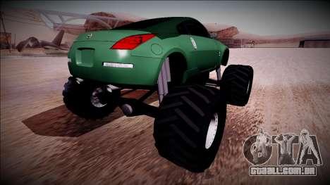 Nissan 350Z Monster Truck para GTA San Andreas esquerda vista