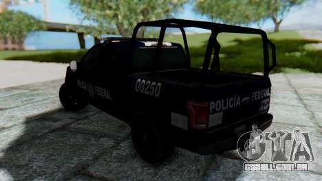 Ford F-150 2015 Policia Federal para GTA San Andreas esquerda vista