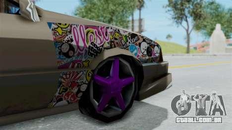 Cadrona Cabrio JDM para GTA San Andreas traseira esquerda vista