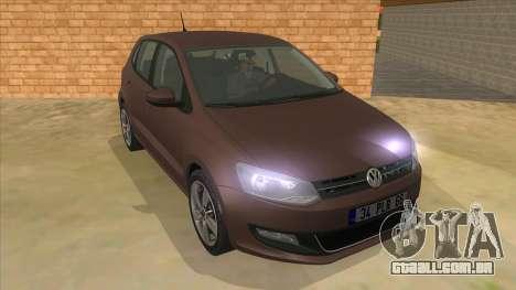 Volkswagen Polo 6R 1.4 para GTA San Andreas vista traseira