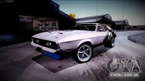 1971 Ford Mustang Drag para GTA San Andreas vista traseira