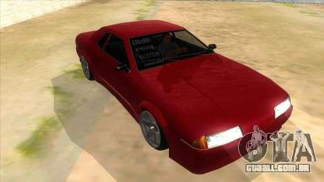 GTR Elegy para GTA San Andreas vista traseira