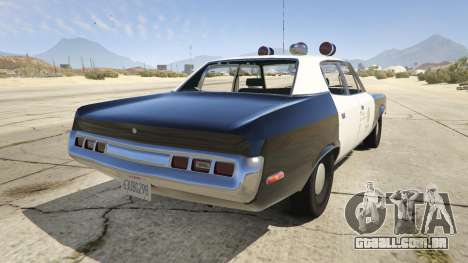 GTA 5 1972 AMC Matador LAPD traseira vista lateral esquerda