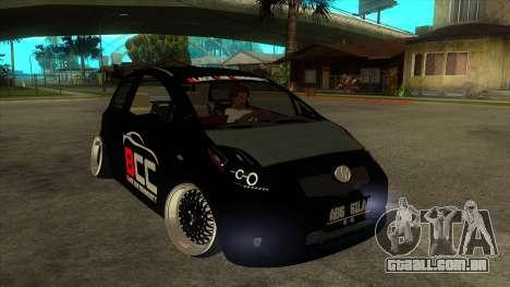 Toyota Yaris (Vitz) [Black Car Community] para GTA San Andreas vista traseira