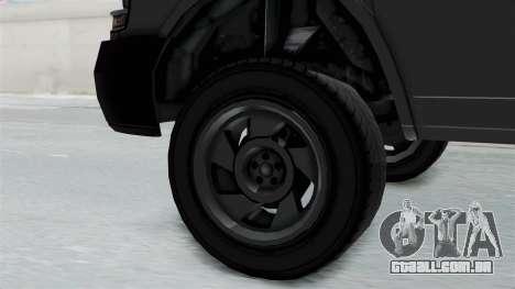 Vapid Speedo Newsvan para GTA San Andreas vista direita