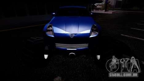 Nissan 350Z Monster Truck para GTA San Andreas vista traseira
