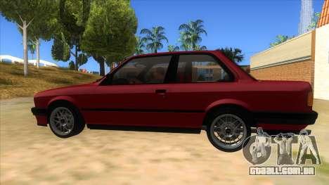 BMW M3 E30 1991 para GTA San Andreas esquerda vista
