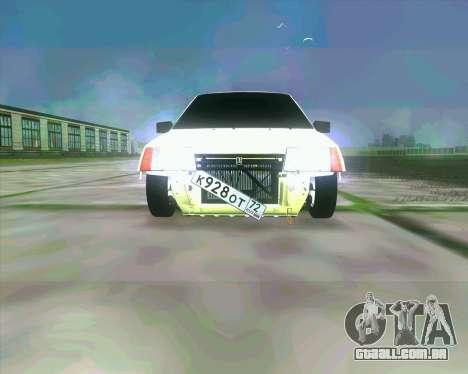 VAZ 2109 BUNKER para GTA San Andreas esquerda vista