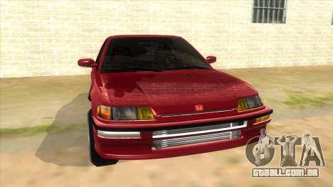 Honda Civic Ef Sedan para GTA San Andreas vista traseira