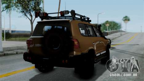 Toyota Land Cruiser 2013 Off-Road para GTA San Andreas esquerda vista