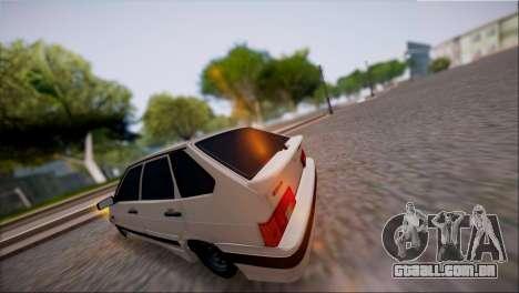 VAZ Lada 2114 para GTA San Andreas traseira esquerda vista