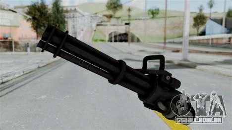 GTA 5 Minigun para GTA San Andreas segunda tela