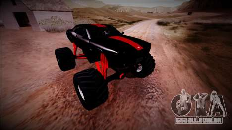GTA 5 Bravado Gauntlet Monster Truck para GTA San Andreas vista inferior
