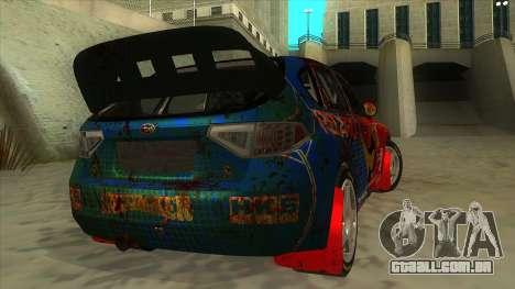 Subaru Impreza WRX STi 2011 ,,Response,, para GTA San Andreas vista direita