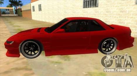 Nissan S13 Drift para GTA San Andreas esquerda vista