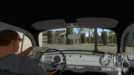 Volkswagen Beetle Aircooled V2 para GTA San Andreas vista interior