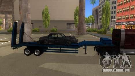 Trailer with Hydaulic Ramps para GTA San Andreas traseira esquerda vista