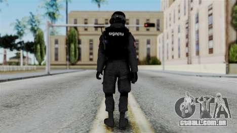 Serbian Zandarmerija v2 para GTA San Andreas terceira tela