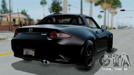 Mazda MX-5 Miata 2016 para GTA San Andreas esquerda vista