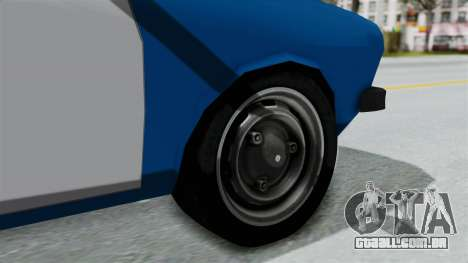 Dacia 1300 Police para GTA San Andreas traseira esquerda vista