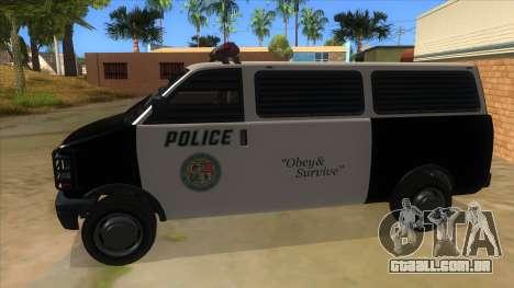 GTA 5 Burrito Transport para GTA San Andreas esquerda vista