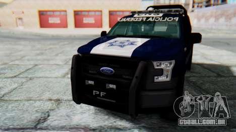 Ford F-150 2015 Policia Federal para GTA San Andreas vista direita