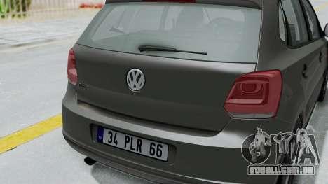 Volkswagen Polo 6R 1.4 HQLM para GTA San Andreas vista traseira