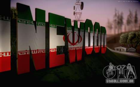 New Vinewood colors Iran flag para GTA San Andreas terceira tela