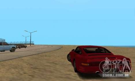 Porsche 959 para GTA San Andreas vista direita