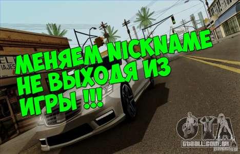 SName para GTA San Andreas