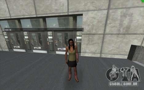 Uma mudança de visual da pele para GTA San Andreas terceira tela