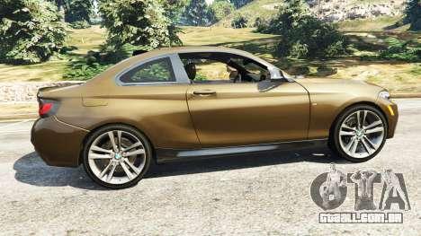 GTA 5 BMW M235i Coupe vista lateral esquerda
