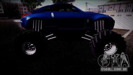 Nissan 350Z Monster Truck para GTA San Andreas vista direita