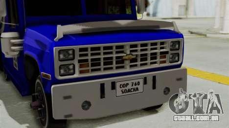 Chevrolet C30 Furgon Stylo Colombia para GTA San Andreas vista direita