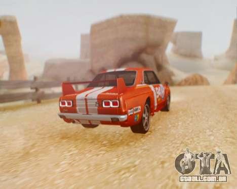 Nissan 2000GT-R [C10] Tunable para GTA San Andreas traseira esquerda vista