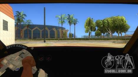 GTA V Sentinel RS MKII para GTA San Andreas vista interior