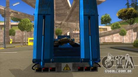 Trailer with Hydaulic Ramps para GTA San Andreas vista interior
