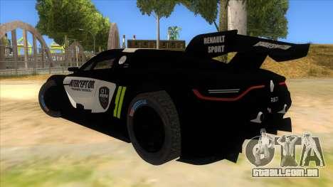 Renault Sport RS 01 INTERCEPTOR para GTA San Andreas traseira esquerda vista