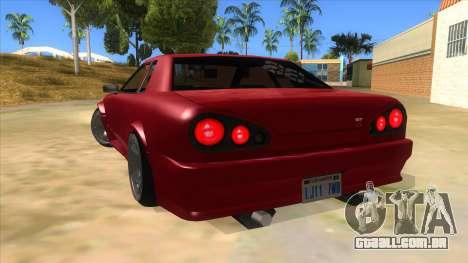 GTR Elegy para GTA San Andreas traseira esquerda vista