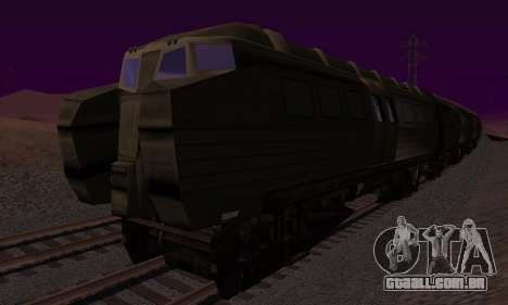 Batman Begins Monorail Train v1 para GTA San Andreas vista traseira
