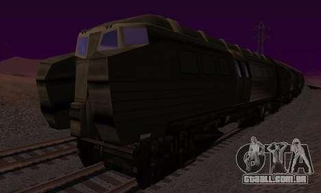 Batman Begins Monorail Train v1 para GTA San Andreas vista traseira