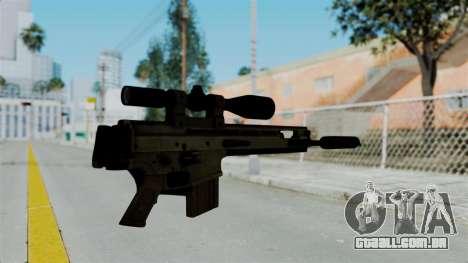 SCAR-20 v2 Folded para GTA San Andreas segunda tela