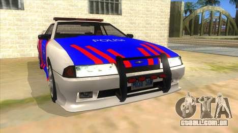 Elegy NR32 Police Edition White Highway para GTA San Andreas vista traseira