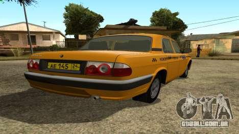 GAZ 31105 Volga Táxi FIV para GTA San Andreas traseira esquerda vista