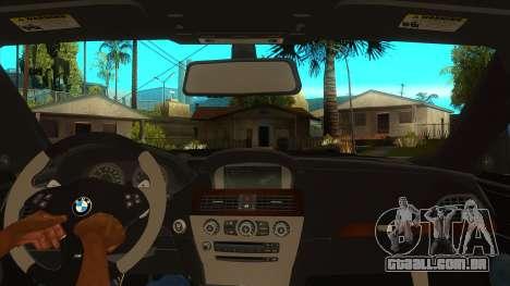 BMW M6 Full Tuning para GTA San Andreas vista interior