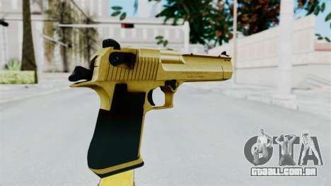 Pouxs Desert Eagle v2 Gold para GTA San Andreas terceira tela
