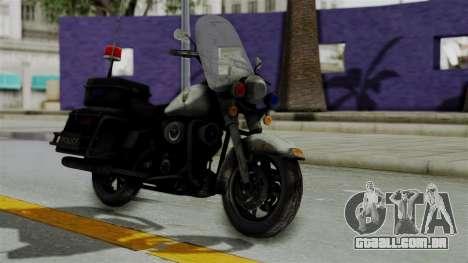 Police Bike from RE ORC para GTA San Andreas vista direita